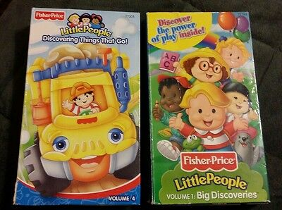 Fisher Price Little People VHS Volume 1 & 4