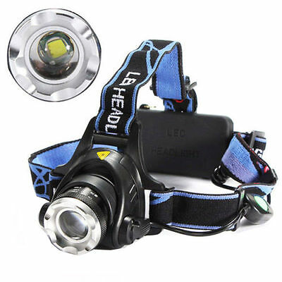Rechargeable 1600Lm CREE XM-L XML T6 LED 18650 Zoomable Headlamp Headlight Torch