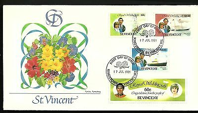 """ST. VINCENT 1981 First Day Cover """" The Royal Wedding """""""