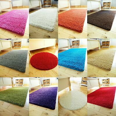 *REDUCED* Small large size non slip washable bedroom bathroom area rug round UK