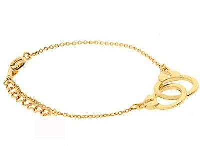 Free Shipping!  Womens 14K Yellow Gold Plated Stylish Bracelet Handchain E-N17