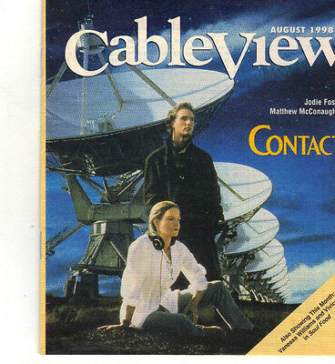CableView August 1998 MATTHEW McCONAUGHEY & JODIE FOSTER 'Contact' Cover