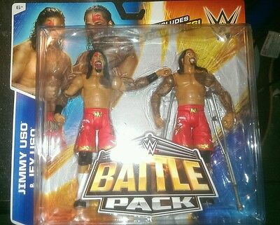 WWE Mattel figure Battle Pack Jimmy and Jey The Usos Rikishi's sons 2 pack