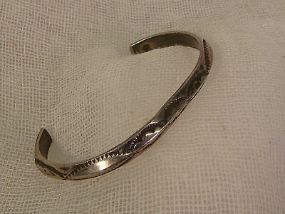 STERLING SILVER NAVAJO BRACELET SMALL CHILDS ARTISAN HANDCRAFTED HAND TOOLED