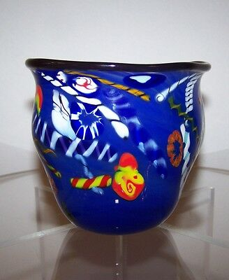 """signed Arthur Allison hand blown  Free Form Bowl approx. 4"""" tall"""