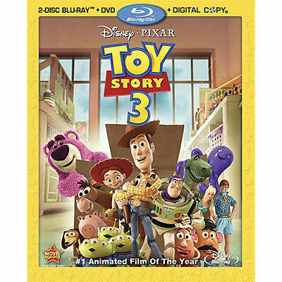Toy Story 3, Blu-ray + DVD only, 2010, 2-Disc, Disney fun kids, Family Movie