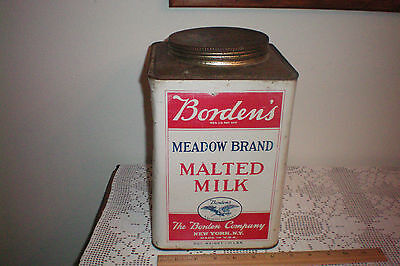 LARGE Borden's Meadow Brand Malted Milk 10 pound can