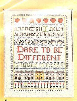 """DARE TO BE DIFFERENT Sampler Artcraft Concepts Counted Cross Stitch Kit 11""""x14"""""""