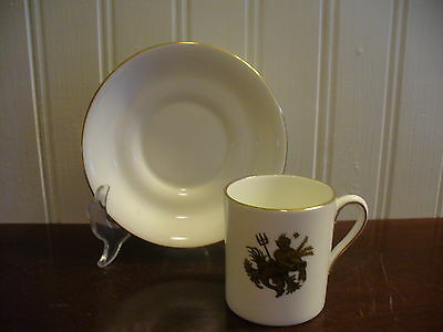Tuscan Fine English Bone China Demitasse Aquarius Zodiac Motif Cup & Saucer