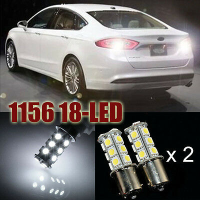 2X NEW White 18 SMD LED Car Trailer 1156 BA15S 5050 Light Bulb 7503 1141 7527 E8
