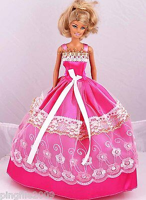 New Handmade Party Dress Clothes Outfits For Barbie Doll #941