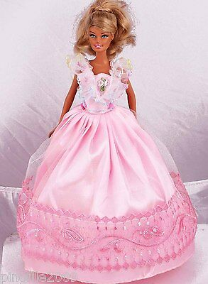 New Handmade Party Dress Clothes Outfits For Barbie Doll #940