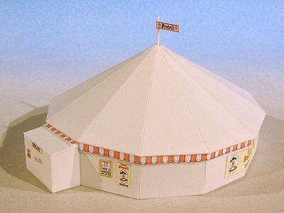 Luetke 73225 Z Scale Round Big Top Circus Tent Scenery Kit *NEW