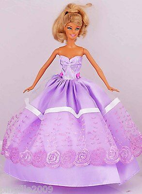 New Handmade Party Dress Clothes Outfits For Barbie Doll #970