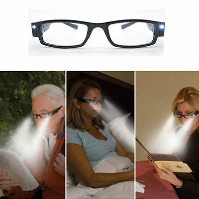 HOT Practical Spectacle LED Reading Eyeglasses Diopter Magnifier Multi Light Up