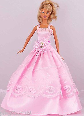 New Handmade Party Dress Clothes Outfits For Barbie Doll #964
