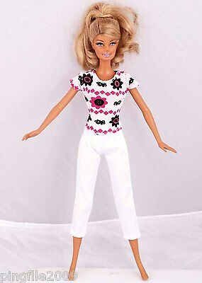 """Hot!Handmade Bodysuit Tights Clothes Outfits For Barbie Doll 11"""" Doll #949"""
