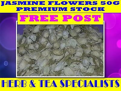 JASMINE FLOWERS 50g ☆ PREMIUM STOCK ☆Jasminum officinale☆DRIED HERB ☆ FREE POST