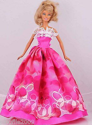 New Handmade Party Dress Clothes Outfits For Barbie Doll #953