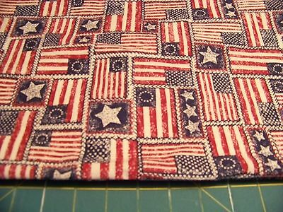 """2  YD X  44""""  PATOTIC FLAGS by OAKHURST 5286  FREE SHIPPING COTTON"""
