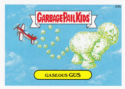 """2015 GARBAGE PAIL KIDS SERIES 1 """"GASEOUS GUS"""" #54b STICKER! ONLY 99 CENTS"""