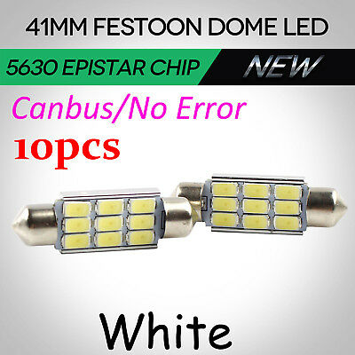 5pcs 41mm 42mm Festoon Interior LED Map Dome Light 9 SMD 5630 Bulbs Ultra Bright