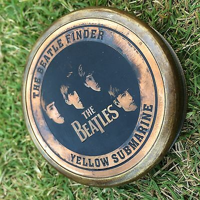 """VINTAGE STYLE 3"""" THE BEATLE FINDER YELLOW SUBMARINE COMPASS GIFT ITEM SC0162"""