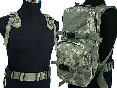 New Airsoft Molle Hiking Climbing Hydration Carrier Backpack Water Pack ACU