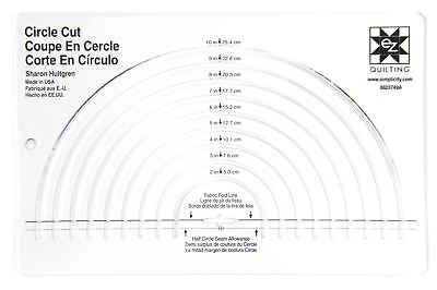 Easy Circle Cut Acrylic Quilting Template