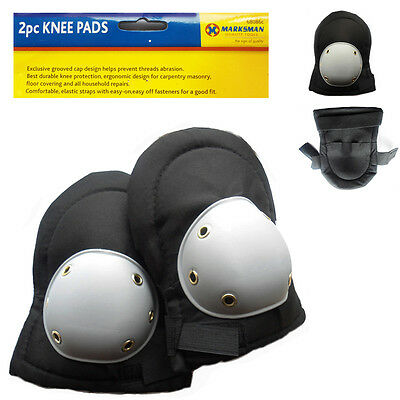 2 Industrial Knee Safety Guard Pads DIY Padded Protective Black Strength Cover