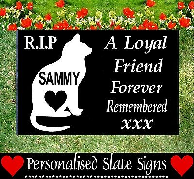 Memorial Dog/ Cat/ Pet Slate Sign Plaque - Personalised For Your Pet