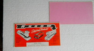 Vintage 1950's Arrow Stapling Products Blotter