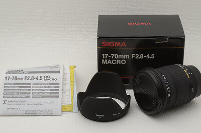 SIGMA 17-70mm f2.8-4.5 DC MACRO for Nikon AFD [Very good] from Japan (24-A64)