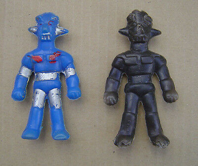 LOT x2 MAZINGER Z BOOTLEG FIGURES MADE IN ARGENTINA 80´s