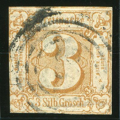 German States, Thurn & Taxis 1860, 3sgr Red/Brown, Scott# 12 (Used).