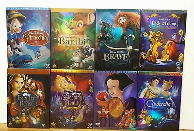 Pick 2 Disney Dvds: Pinocchio, Sleeping Beauty, Beauty and the Beast, Bambi.....