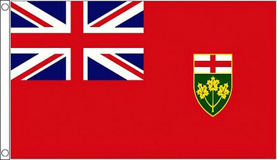 5' x 3' Ontario Flag Canada Canadian Province Banner