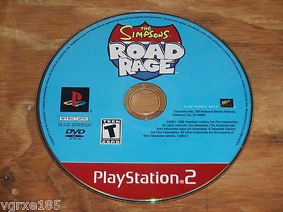 The Simpsons Road Rage (PS2) DISC ONLY MINT/NEAR MINT game Rated T Teen