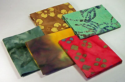 Fabric, Fat Quarters, 5 pack with 1 free,100% Cotton Fabric, Quilt, Sew - BTK003