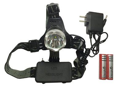 US Waterproof 1600LM CREE XM-L T6 LED Headlamp Headlight 18650 Battery & Charger