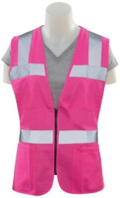 Pink Safety Vest Fitted High Visibility Size Small - 5XL Fast Shipping