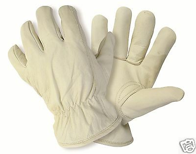 Briers Luxury Lined Cream Leather Hide Garden Gardening Gloves ~ Sm ~ Med ~ Lg
