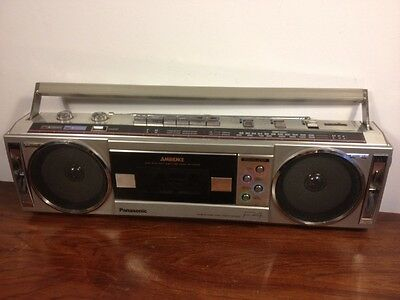 Vintage Panasonic Rx-F4 Cassette Deck Am/Fm Mini Boombox Radio Stereo Works