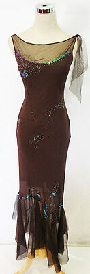 WINDSOR Brown $150 Hot Formal Evening Prom Party Gown 5
