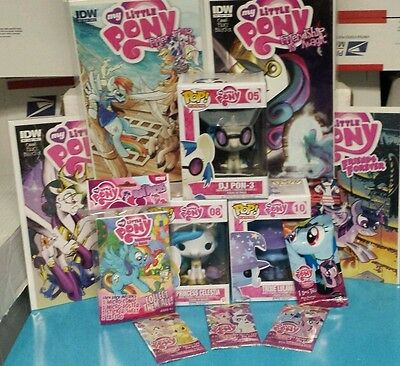My Little Pony Lot Trixie DJ Pon-3 Princess Celestia Funko Pop Cards & Comics