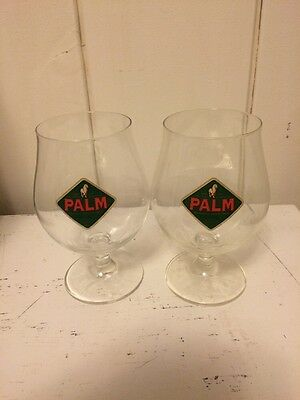 2 x Palm Beer Glasses