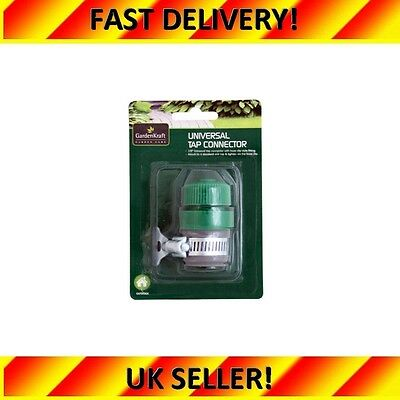 """New 1/2"""" Universal Garden Water Tap Hose Connector With Hose Clip"""