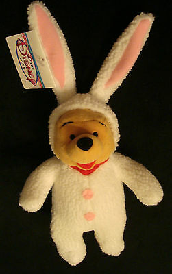"JAPAN DISNEY WINNIE the POOH EASTER BUNNY 8"" Plush Beanbag toy doll NWT"