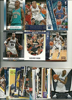 David West 35 Card Lot All Different Indiana Pacers New Orleans Hornets