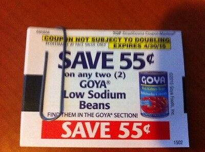 (20) Save .55 on ANY 2 GOYA Low Sodium Beans Coupons